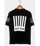 ルイヴィトン LOUIS VUITTON 2019AW LOUIS VUITTON ルイヴィトン Barcode and Earth Knit Tee Shirt バーコード アンド アース ニットTシャツ M BLACK 黒 RM192M 国内正規品 /●