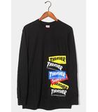 シュプリーム SUPREME 未使用品 2021AW Supreme × Thrasher シュプリーム スラッシャー Multi Logo L/S Tee マルチロゴ 長袖Tシャツ M BLACK 黒 /●