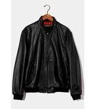 シュプリーム SUPREME 2016SS Supreme × Schott シュプリーム ショット Leather Harrington レザーハリントンジャケット M BLACK 黒 /●