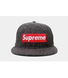 シュプリーム SUPREME Supreme × Woolrich シュプリーム ウールリッチ Box Logo New Era ボックスロゴニューエラ キャップ 7 3/8 58.7cm Gray グレー /●