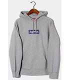 シュプリーム SUPREME 2019AW SUPREME シュプリーム Bandana Box Logo Hooded Sweatshirt バンダナ ボックスロゴ フーディ パーカー M Heather Grey ヘザーグレー /●