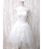 アンナン ANNAN ウェディングドレス ノースリーブ チュール 白 0817 JJJ