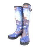 ハンター HUNTER ORIGINAL SPACE CAMO TALL レイン ラバー ブーツ スペースカモ ギャラクシー柄 長靴 UK5 0111