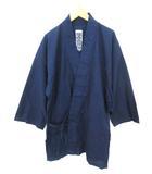 笹倉玄照堂 吉兆藍木綿 作務衣 上着 藍染 103 M インディゴ 0109