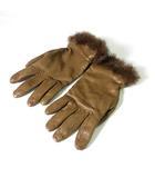 フルラ FURLA 手袋 グローブ ファー レザー ブラウン 0415 IBS17