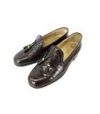 グッチ GUCCI ローファー タッセル フリンジ レザー  シューズ 靴 ブラウン 39 SSS1 0713