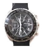ポリス POLICE 10962J 腕時計 クロノグラフ ウォッチ タキメーター シルバー ブラック/☆J76