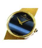 ボーム&メルシエ BAUME&MERCIER 金無垢 K18 腕時計 手巻き 51.3g ゴールド ネイビー文字盤 美品
