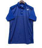 ヨネックス YONEX ドット ポロシャツ ドライ メッシュ 半袖 青 ブルー M