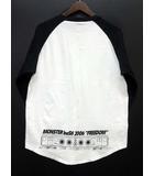モンスターバッシュ 2006 MONSTER baSH Tシャツ ラグラン 長袖 Printstar社製 白 黒 ホワイト ブラック L