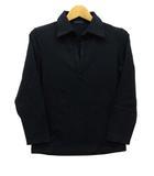 セオリー theory ポロシャツ 七分袖 スキッパー ストレッチ 黒 ブラック 4