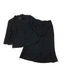 ユキトリイ YUKI TORII ロング スカート スーツ 上下セット ジャケット 黒 ブラック 9AR 春夏 清涼素材 フォーマル