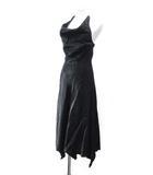 メトリーゼ MAITRESSE ホルターネック ドレス ワンピース フレア ミモレ丈 黒 ブラック 9