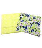 マーキュリーデュオ MERCURYDUO クッションカバー 花柄 レース 2点セット イエロー グリーン 超美品