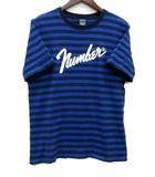 ナンバーナイン NUMBER (N)INE ボーダー クルーネック Tシャツ BORDER CREW NECK S/S number9 半袖 ブルー 青 3