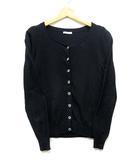 エフデ ef-de ビジュー アンサンブル ツインニット カーディガン 長袖 パフスリーブ 半袖 セーター 黒 ブラック 9