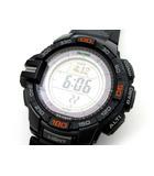 カシオ CASIO プロトレック トリプルセンサー タフソーラー 腕時計 PRG-270-1JF ブラック 美品 アウトドア