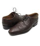 ビサルノ VISARUNO WHITE LABEL レザー ウイングチップ メダリオン シューズ 靴 レースアップ 茶 ブラウン 24.5
