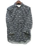 ブラウニー BROWNY シャツ 七分袖 ペイズリー 花柄 ブラック 黒 M