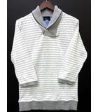 ザショップティーケー THE SHOP TK タケオキクチ ヘチマ襟 ポロシャツ 七分袖 ボーダー グレー ホワイト 白 M