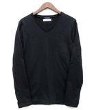 ジュンハシモト junhashimoto 背リブ カットソー 長袖 Vネック Tシャツ ロンT SERIBU V L/S 2018AW ブラック 黒 3 1100000008