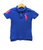 ポロ ラルフローレン POLO RALPH LAUREN ビックポニー ポロシャツ 半袖 ブルー 青 3T