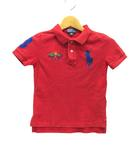 ポロ ラルフローレン POLO RALPH LAUREN ビックポニー ポロシャツ 半袖 レッド 赤 4T
