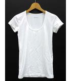 セオリー theory Tシャツ カットソー 半袖 Uネック ストレッチ GYM KRISTINA ホワイト 白 2 無地