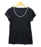 ラピスビームス LAPIS BEAMS Tシャツ カットソー 半袖 パール リヨセル コットン ネイビー 紺