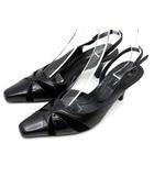 ソニアリキエル SONIA RYKIEL バックストラップ パンプス ミュール 靴 黒 ブラック 35 22.5cm相当