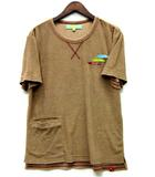 フィンチ Fin-ch イサベラ パイル Tシャツ 半袖 ポケット ブラウン 煎茶色 M