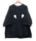 アンダーカバー UNDERCOVER 2019SS タチキリ 半袖 BIG SWEAT スカル ビッグ スウェット シャツ 半袖 ブラック 黒 3 JUW9801 美品