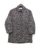 スロウガン SLOWGUN シャツ 七分袖 ロールアップ フラワー 小花柄 シルク コットン ブラック 黒 2