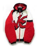 スターター Starter NFL カンザスシティ チーフス 中綿 ジャケット ブルゾン ロゴ刺繍 フード付き レッド ブラック ホワイト 赤 黒 白 L