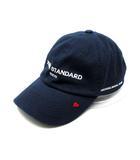 ダブルスタンダードクロージング ダブスタ DOUBLE STANDARD CLOTHING ベースボール キャップ 帽子 ロゴ ハート 刺繍 紺 ネイビー