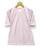 シャネル CHANEL カシミヤ ニット セーター 五分袖 ココマーク ピンク 42