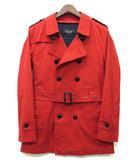 バーバリーブラックレーベル BURBERRY BLACK LABEL トレンチ コート 中綿 ライナー 裏地チェック レッド 赤 M 美品