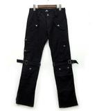 バッファロー ボブス Buffalo Bobs ボンテージ カーゴ パンツ 裾ジップ ストレッチ ブラック 黒 1