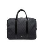 タケオキクチ TAKEO KIKUCHI ブリーフケース ビジネスバッグ 軽量 サフィアーノ PVC アールデコ Art-deco柄 黒 ブラック A4 PCポケット付き