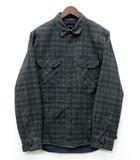 クイックシルバー QUIKSILVER 中綿 シャツ ジャケット 長袖 チェック グリーン 緑 M
