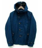 レイジブルー RAGEBLUE ジャケット コート フード付き くるみボタン ウール ブルーグリーン 青緑 M