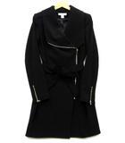 エイチ&エム H&M ライダース ロング ジャケット ジップアップ ブラック 黒 US 2