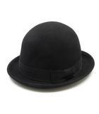 レイビームス Ray Beams ボーラーハット 帽子 ウール グログラン リボン 黒 ブラック
