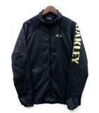 オークリー OAKLEY ウィンド ジャケット フルジップ 柄切替 袖ロゴ ブラック 黒 L 412016JP ゴルフ