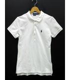 ポロ ラルフローレン POLO RALPH LAUREN ポロシャツ 半袖 ワンポイント カノコ スリムフィット ホワイト 白 M