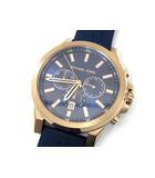 マイケルコース MICHAEL KORS クロノグラフ 腕時計 クォーツ MK-8698 ローズゴールド ネイビー 美品