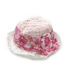 グレヴィ GREVI フラワー リボン ハット 帽子 ピンク 54