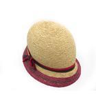 ヘレンカミンスキー HELEN KAMINSKI ラフィア ハット クロシェ 帽子 シルク リボン Ayita Cloche ナチュラル 美品