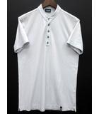 ドルモア DRUMOHR Tシャツ バンドカラー ヘンリーネック 半袖 アイスコットン ライトグレー M イタリア製