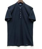 ドルモア DRUMOHR Tシャツ バンドカラー ヘンリーネック 半袖 アイスコットン ネイビー M イタリア製